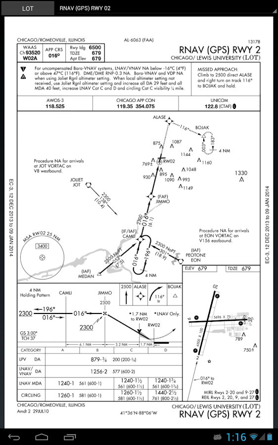 Approach Charts- screenshot