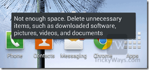 not-enough-space-delete-unecessary-items