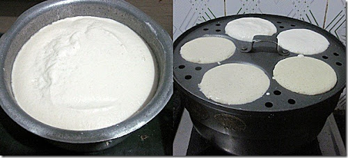 idli using idli rava step 3