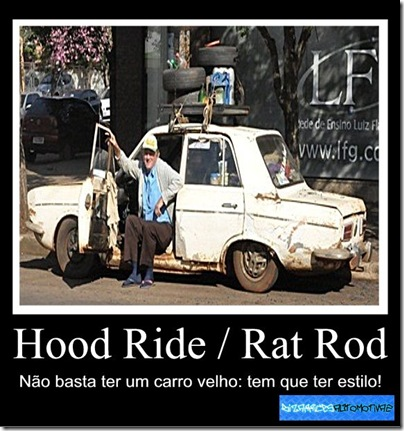 Hood Ride - Rat Rod WINS By Kiko Molinari Originals