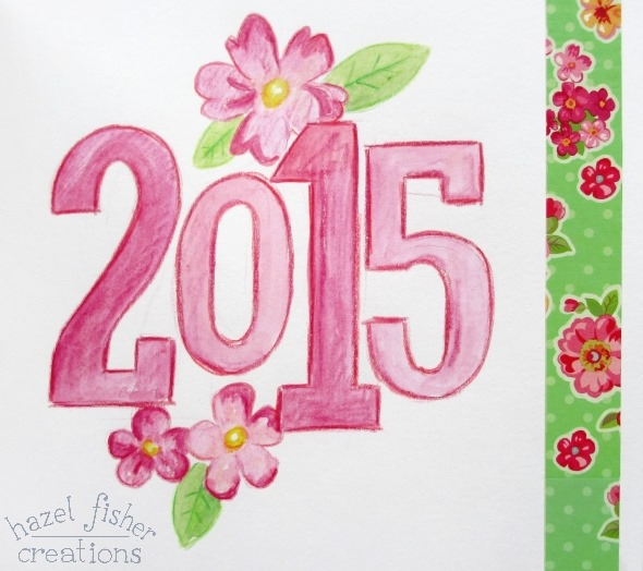 2015 Jan 09 new year sketchbook page date