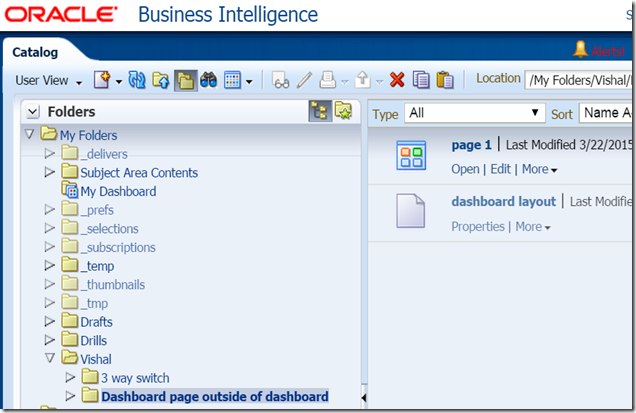 Vishal's blog: OBIEE 11g dashboard pages outside of a dashboard