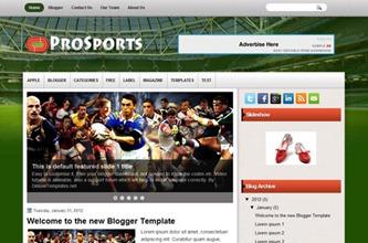 про спорт blogger шаблон