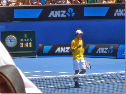 Nishikori won the match