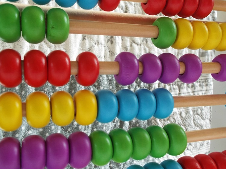 My 1ST Years wooden abacus beads