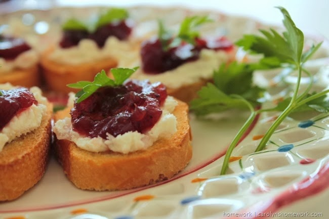 Cranberry Relish Crostini via homework  (6)