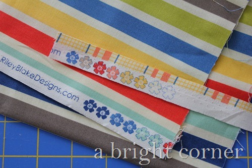 seaside fabric selvedges