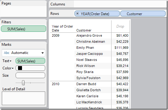 Tableau Tip: Using the TOTAL function to summarize dimensions