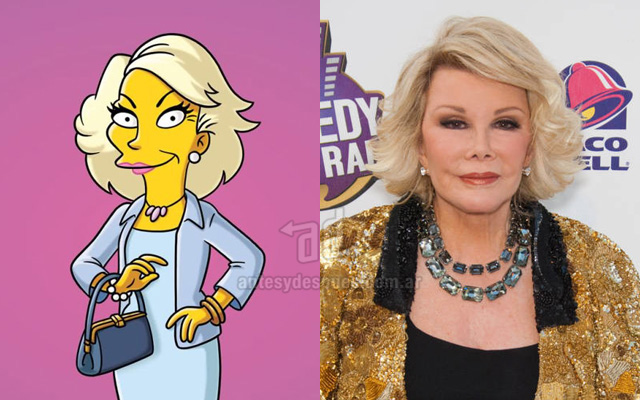 Foto de la version Simpson de Joan Rivers