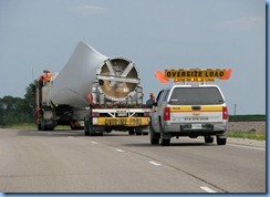 2599 Minnesota US-2 East - truck transporting wind turbine blades