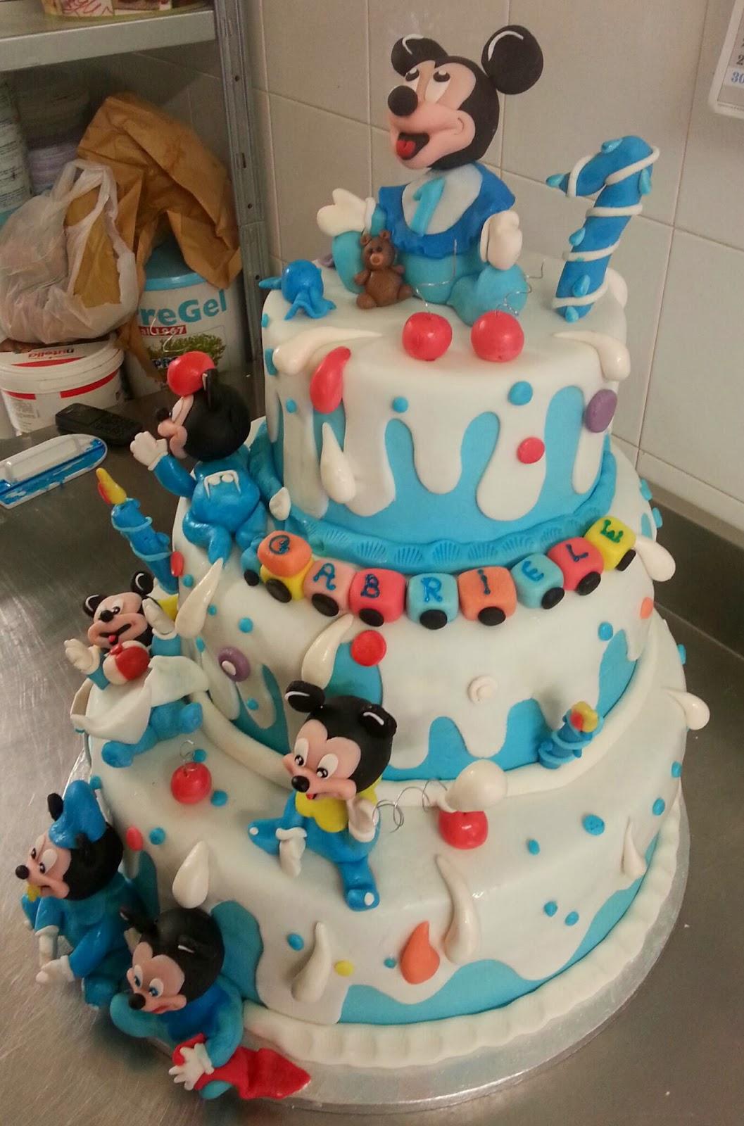 PANDORA: Torta per il primo compleanno di Gabriele! ! Topolino baby