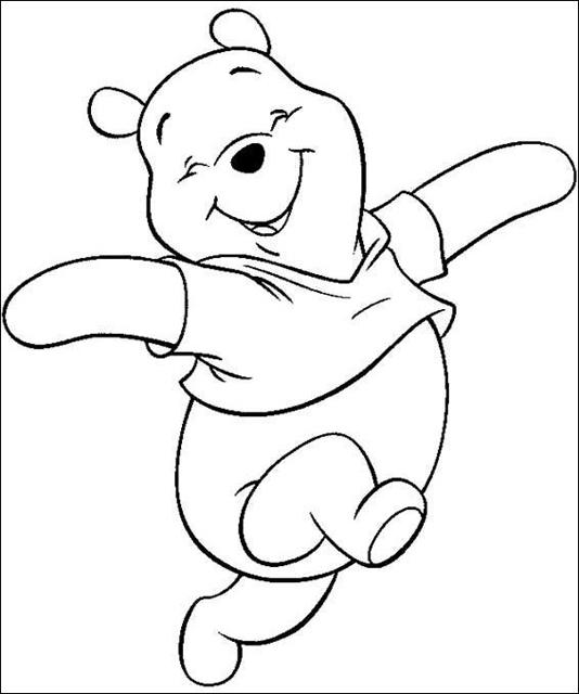 Dibujos Para Colorear De Oso Pooh Y Sus Amigos Pintar Al Oso Pooh