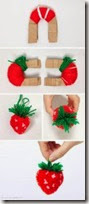 how to strawberry pompom