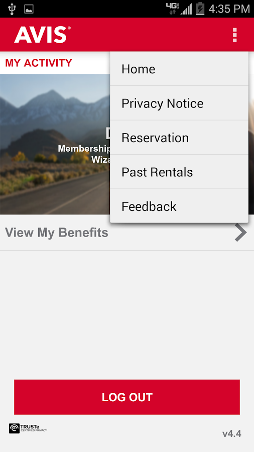 Avis Car Rental - screenshot