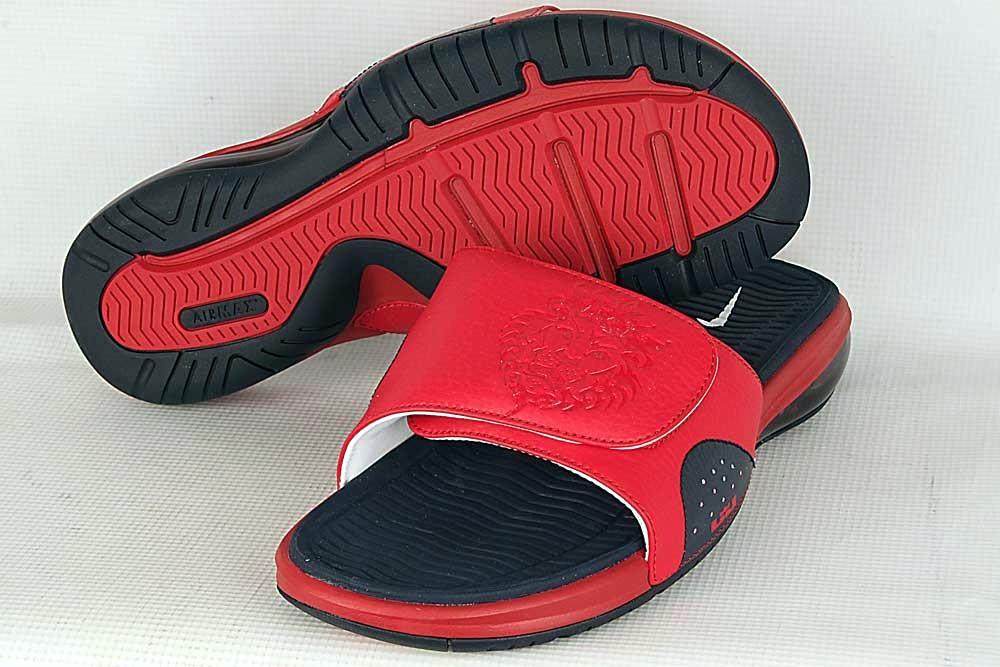 6a2b6f46812ee6 ... Detailed Look at Nike Air LeBron Slide in Olympic Colorway · flip flops navynike lebron 9redsandalslideusa basketball