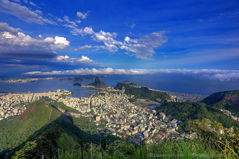 View of Rio from Christ the Redeemer at sunset