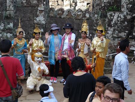 Apsara la Angkor Wat