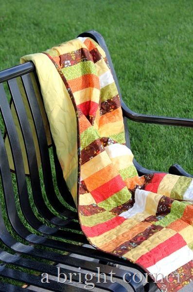 Cute fall quilt and a free quilt pattern!