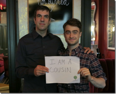 A.J.雅各布是Daniel Radcliffe的堂兄