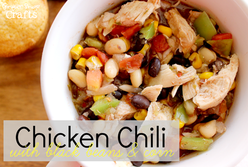 Chicken Chili with black beans & corn #McCormickHomemade #spon #recipe