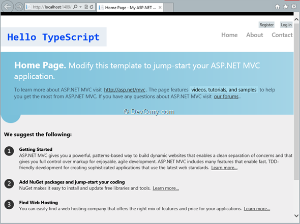 typescript-home-page