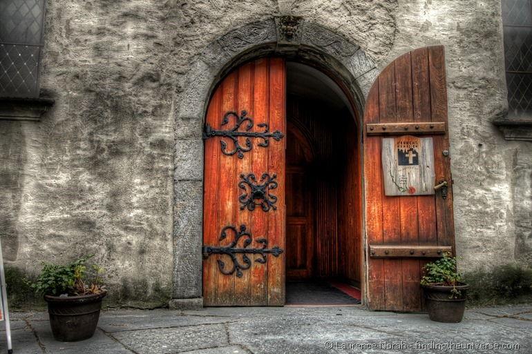 Church Doorway Bergen Norway