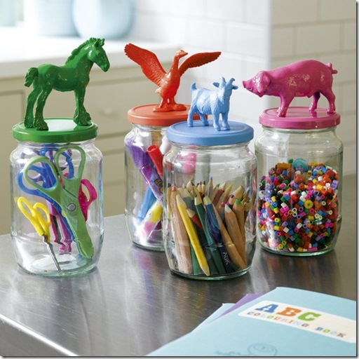 animal jar toppers