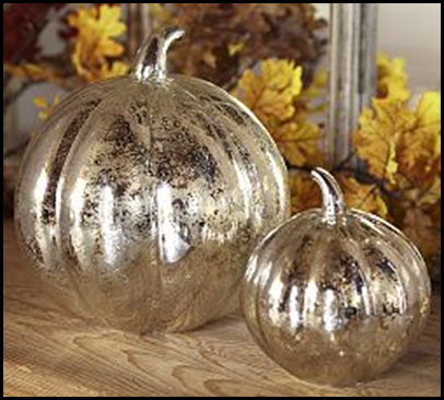pumpkins mercury glass