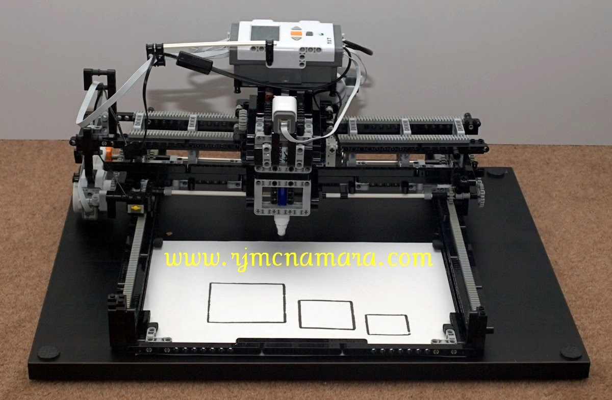 LEGO Mindstorms NXT X-Y Plotter: A LEGO® creation by Sparra