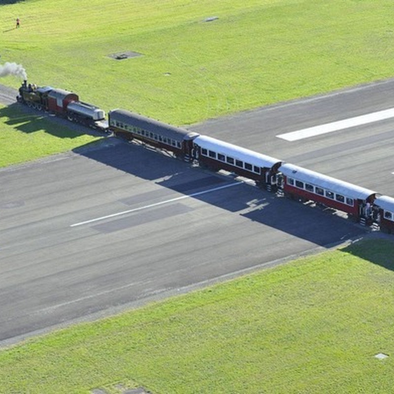 Strange Airport #5: Gisborne Airport - Runway With a Railway Crossing