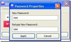Removable Access Tool settare password di accesso