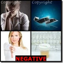 NEGATIVE- 4 Pics 1 Word Answers 3 Letters