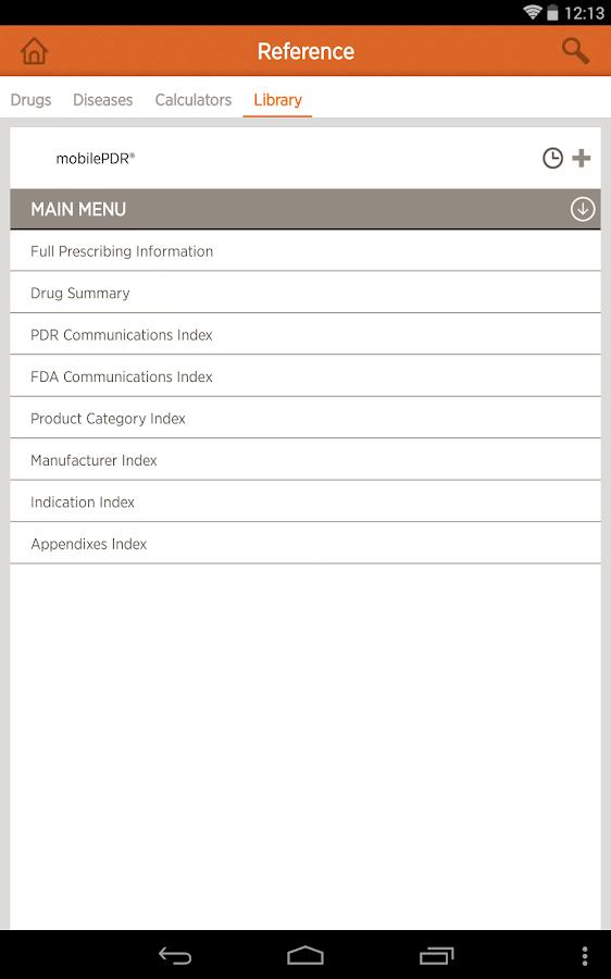 mobilePDR® for Prescribers - screenshot