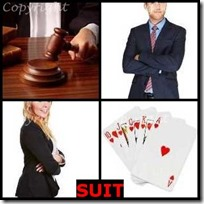 SUIT- 4 Pics 1 Word Answers 3 Letters