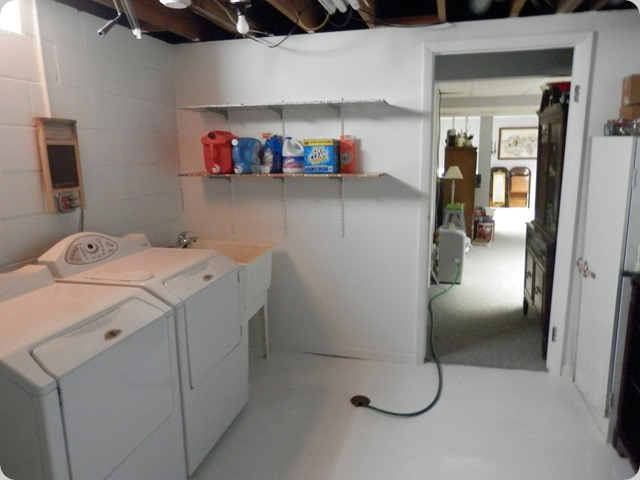 The entrance of the Laundry Room.