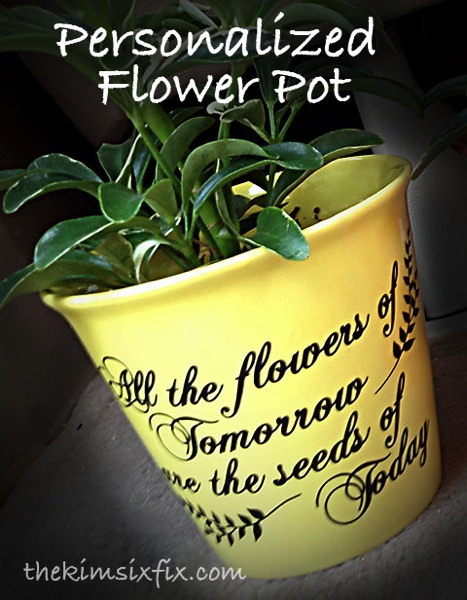 Personalized flower pot