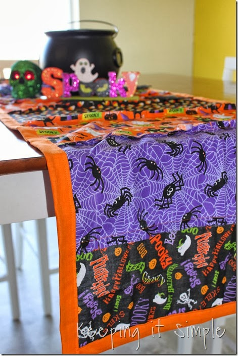 Halloween rag table runner (9)