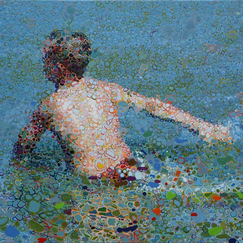 Matthew Davis' Unique Oil Pool Paintings