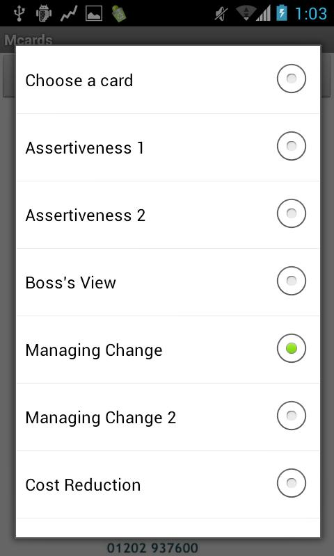 Management Cards - screenshot