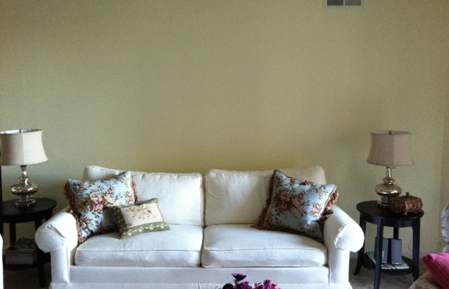 Awesome Design Dilemma What To Hang On The Big Wall Behind Your Theyellowbook Wood Chair Design Ideas Theyellowbookinfo