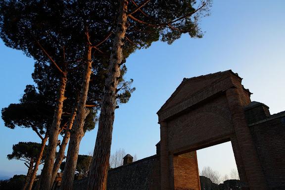 Antigua ciudad romana de Pompeia. La gran Palestra. Pompeia, Itàlia