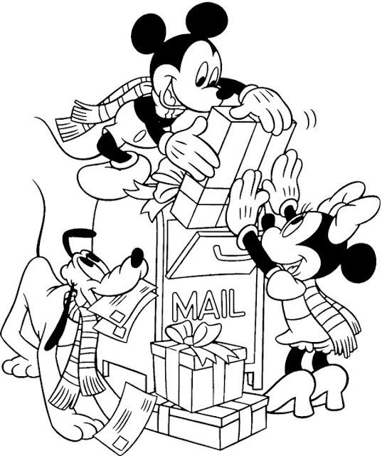 Navidad Disney Para Colorear