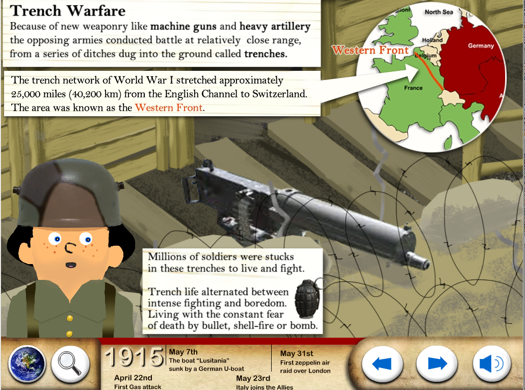 World War One - WW1 For Kids - screenshot