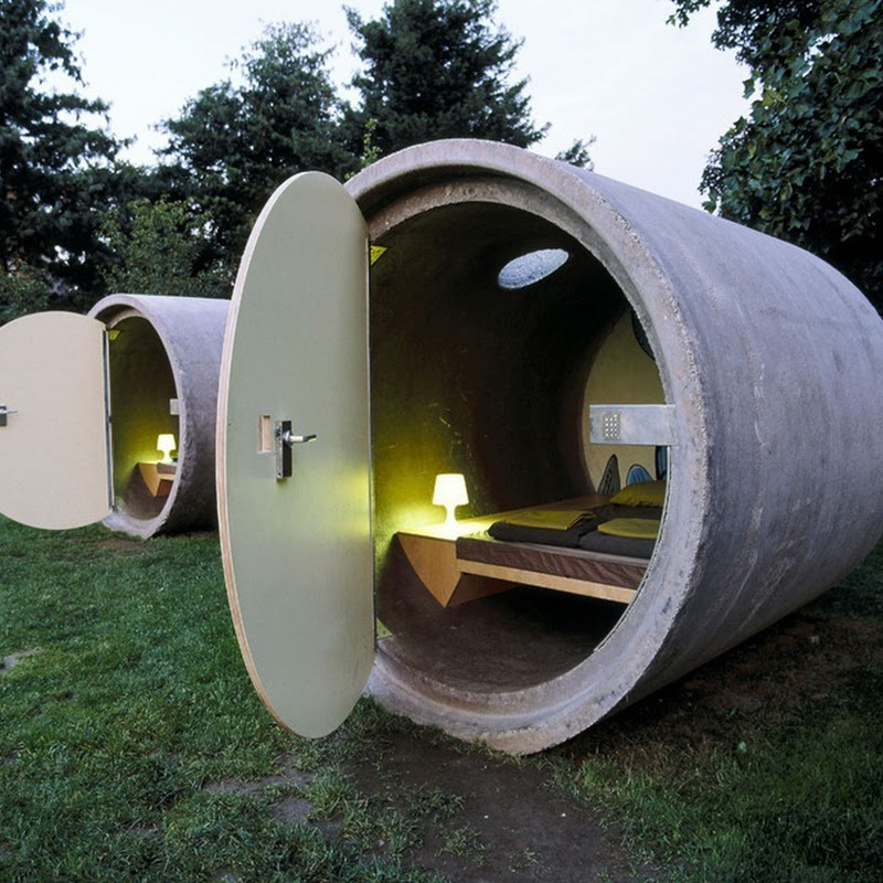 Das Park Hotel Built from Giant Sewage Pipes