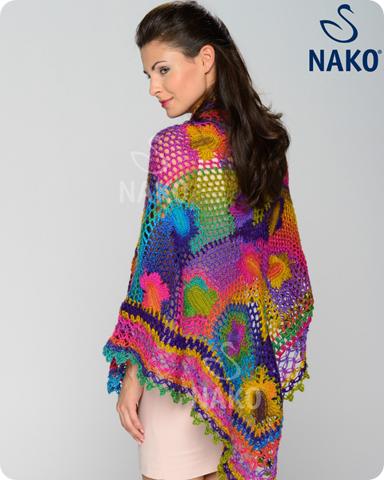 chal multicolor de crochet patron2