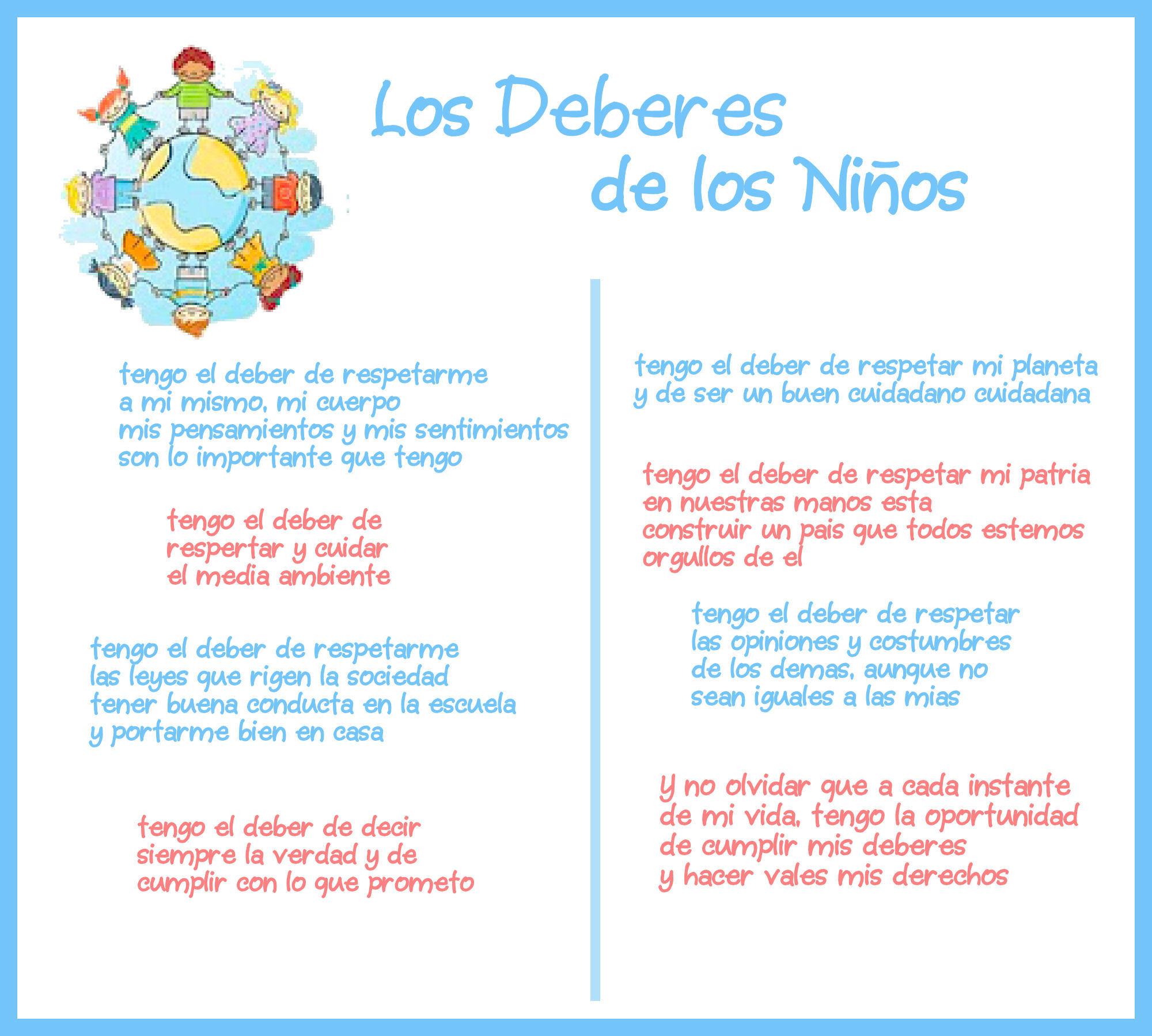 Frases Sobre Los Derechos Y Obligaciones De Los Ninos