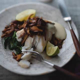 Roasted Cod with Sesame Mushrooms.