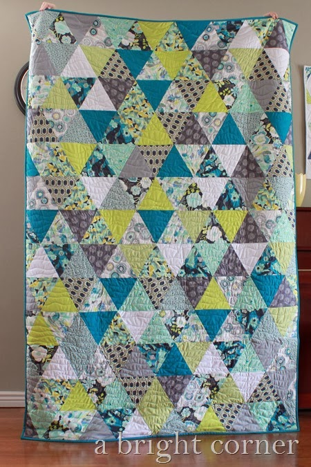 equilateral triangle quilt by A Bright Corner
