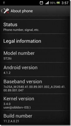 Jelly Bean on Sony Xperia J