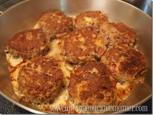 browning meatloaf patties